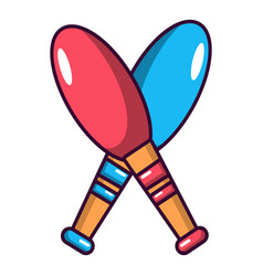 juggler element icon cartoon style vector image