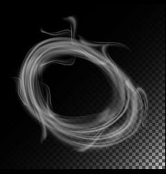 realistic cigarette smoke waves set of vector image