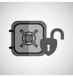 safe box padlock open protection design vector image