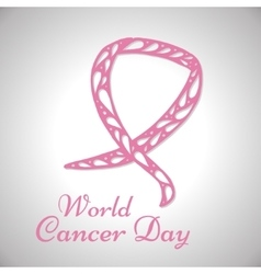 World cancer day background vector image
