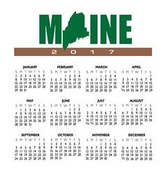 2017 Maine calendar vector image vector image