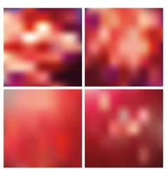 Abstract blurred square backgroundsRed vector image
