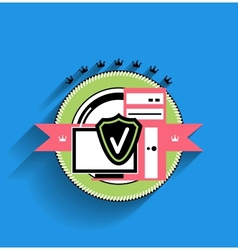 computer stamp modern flat design vector image