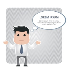confused man in a tie and a text bubble vector image
