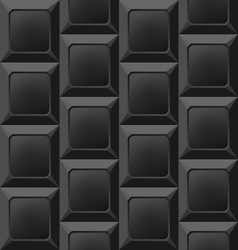 Geometric Black Seamless Pattern Abstract vector image vector image