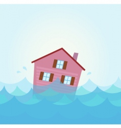 house flood vector image vector image