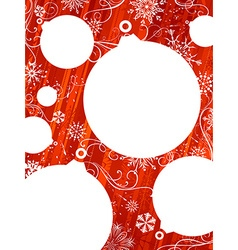 Red Christmas background with white places for vector image vector image