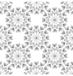 seamless black-and-white vector image vector image