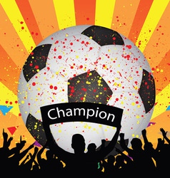soccer celebration vector image vector image