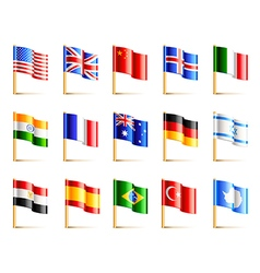 World countries flags icons set vector image