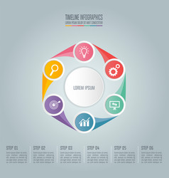 Business concept with 6 options steps or vector