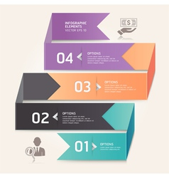 Business step options origami style vector image vector image