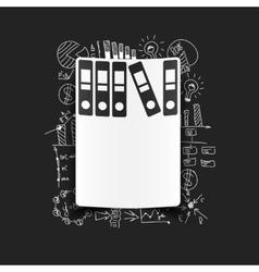 Drawing business formulas folder vector