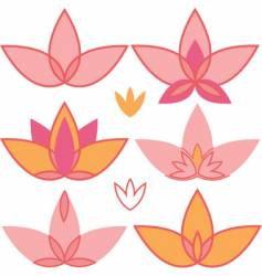 lotus design elements vector image vector image