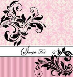 pink floral wedding invitation vector image