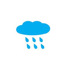 rain rainy on white background rainy sign vector image vector image