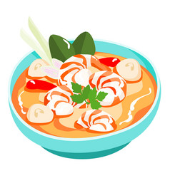 tom yum kung thai spicy soup vector image vector image