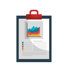 clipboard with statistics isolated icon vector image