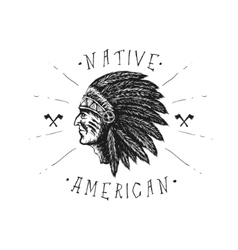 Face of indian chief vector image vector image