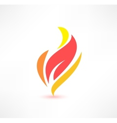 Fire icon The energy concept Logo design vector image