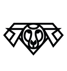 Linear stylized drawing - head of sheep or ram vector