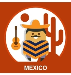 Traditional Mexican vector image vector image