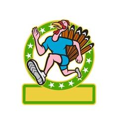 Turkey Run Runner Side Cartoon vector image