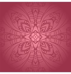 Vegetable dark pink flower ornament vector image vector image