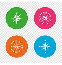 windrose navigation icons compass symbols vector image