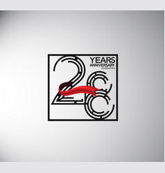 28 years anniversary logotype flat style vector