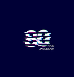 80 years anniversary celebration number template vector