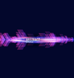 abstract background with dynamic particles vector image