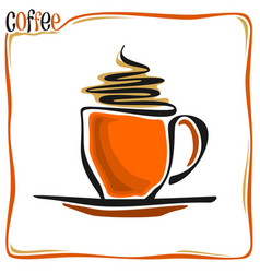 abstract coffee cup vector image