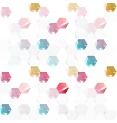 abstract color 3d hexagonal vector image