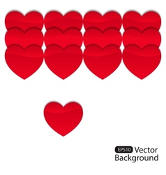 Background from hearts 3 vector
