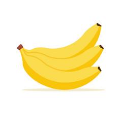 banana cartoon isolated icon flat banana vector image