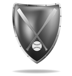 baseball shield vector image