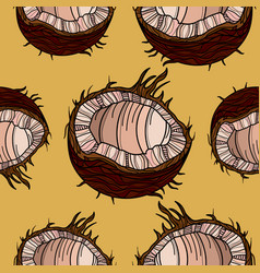beautiful seamless pattern with coconut vector image