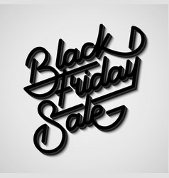 Black friday sale lettering badge vector