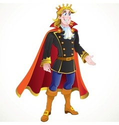 Blond Prince charming vector
