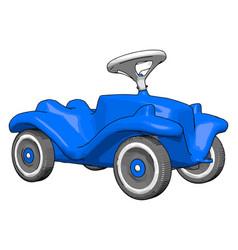 blue kids car on white background vector image