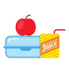 children school lunch icon lunchbox kid nutrition vector image