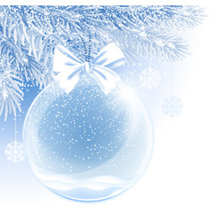 christmas and new year ball vector image