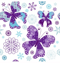Christmas seamless white pattern vector image