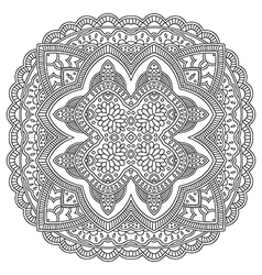 Circle mandala pattern vector image