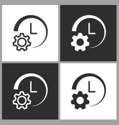Clock setting icon pictogram for graphic vector