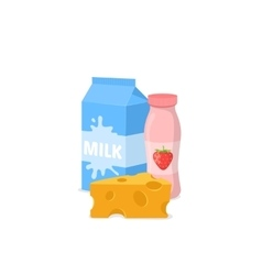 Common dairy products vector