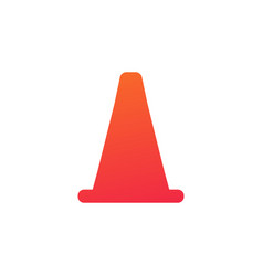 cone barrier construction sports icon isolated on vector image