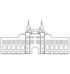 Contour Building vector image