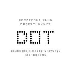 Dot font vector